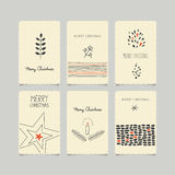 Set of decorative christmas cards. Vector illustration Royalty Free Stock Photo