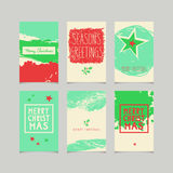 Set of decorative christmas cards Stock Photography