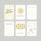 Set of decorative christmas cards Stock Photo