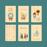 Set of decorative christmas cards Stock Images