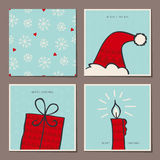 Set of decorative christmas cards Royalty Free Stock Images
