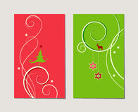 Set of decorative christmas cards Royalty Free Stock Photo