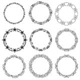 Set decorative circle frames - label Stock Photography