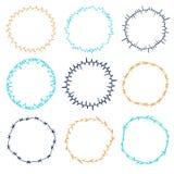 Set of decorative circle frames. Royalty Free Stock Photo