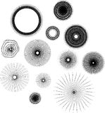Set of decorative circles Stock Photo