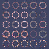 Set of decorative circular elements for design in ethnic style Stock Photography