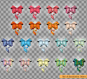 Set of decorative colorful bows isolated on transparent background. Vector Illustration Stock Photo