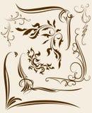 Set of decorative corners, floral elements for your design. Set of decorative corners, floral elements for your design Stock Images
