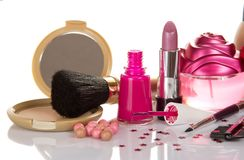 Set of decorative cosmetics Stock Photos