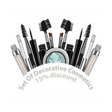 Set of decorative cosmetics. Stock Image