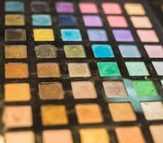 Set of decorative cosmetics, Eyeshadow Palette closeup Royalty Free Stock Image