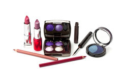 Set of decorative cosmetics Royalty Free Stock Photos