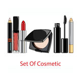 Set of decorative cosmetics. Stock Images