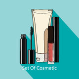 Set of decorative cosmetics. Stock Photos