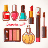 Set with decorative cosmetics Royalty Free Stock Photos
