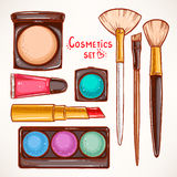 Set with decorative cosmetics - 2 Stock Photography