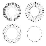 Set of decorative design elements, calligraphic flourishes and page decor Stock Photo