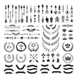Set of decorative design elements and page decor. Set of decorative design elements and page decor Royalty Free Stock Images