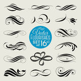 Set of decorative design elements and page decor. Vector illustr Royalty Free Stock Photos