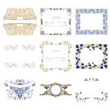 Set decorative design frames Stock Image