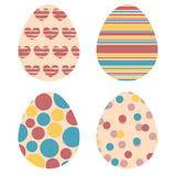 Set of decorative Easter eggs Royalty Free Stock Photo
