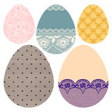 Set of decorative Easter eggs. Stock Photo