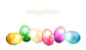 Set of decorative Easter eggs Stock Image