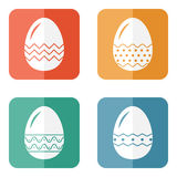 Set of decorative easter eggs Stock Photography