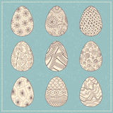 Set of decorative Easter eggs Royalty Free Stock Photography