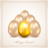 Set of decorative Easter eggs Stock Photos