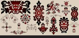 Set of decorative elements Royalty Free Stock Image