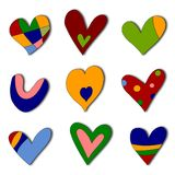 Set of decorative elements. Colorful graphic illustration for children Royalty Free Stock Images