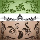Set of decorative elements Royalty Free Stock Photos