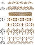 Set of decorative elements. Royalty Free Stock Photos