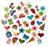 Set of decorative elements Royalty Free Stock Image