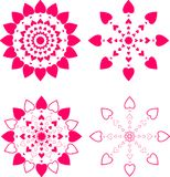 Set of decorative elements for design. Royalty Free Stock Photo