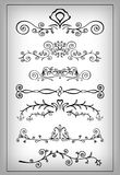 Set of decorative elements. Set of different swirls and elements of decoration Royalty Free Stock Photo