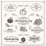 Set of Decorative Elements  Dividers, Frames. Set of Decorative Elements  Dividers Frames  Borders  Swirls and Scrolls. Design  Thanksgiving. Vector Illustration Royalty Free Stock Image