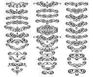 Set of decorative elements. Dividers.Vector illustration.Well built for easy editing.For calligraphy graphic design, men Royalty Free Stock Photo