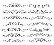 Set of decorative elements. Dividers.Vector illustration.Well built for easy editing.For calligraphy graphic design, men Stock Photo
