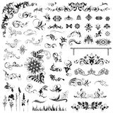 Set of  decorative elements Stock Image