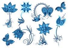 Set of decorative elements Royalty Free Stock Images