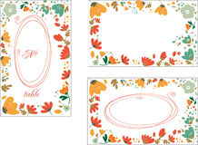 Set of decorative elements with flowers and frames Stock Photo