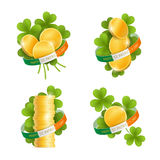 Set of decorative elements for Saint Patrick's Day Royalty Free Stock Images