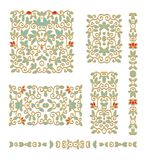 Set of decorative  elements Royalty Free Stock Photography