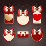 Set of decorative elements for Valentine's day Royalty Free Stock Photo