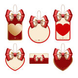 Set of decorative elements for Valentine's day Royalty Free Stock Image