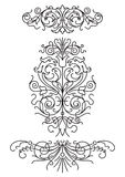 Set of decorative elements (vector). Set of decorative elements; scalable and editable vector illustration; hi-res jpg included stock illustration