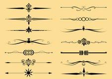 Set of Decorative Elements Vector Royalty Free Stock Photos