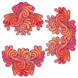 Set of decorative elements Stock Image